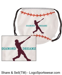 Baseball Drawstring Backpack Design Zoom